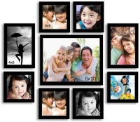 Urban Monk Creations Wood Photo Frame(Photo Size - 8*10 inchs, 5*5 inchs, 4*6 inchs, 9 Photos)