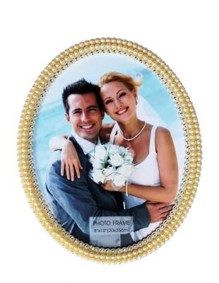 Jaibros Beautiful Pearl Oval Acrylic Photo Frame