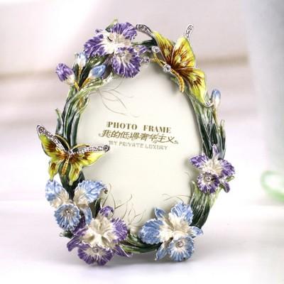 Bijou Handicraft Butterfly Metal Photo Frame