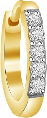 Vijisan 0.12 Ct. Fashion Classic Cubic Zirconia 18K Yellow Gold Plated Sterling Silver Nose Ring