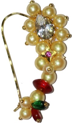 Smj Traditional Yellow Gold Plated Gold Nose Ring