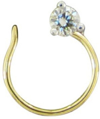 His & Her Diamond Yellow Gold Ring(Yellow Gold Plated) at flipkart
