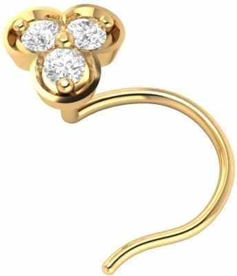 Demira Jewels Natural Engagement Flower Nose Body Piercing Ring Stud Pin 14kt Diamond Yellow Gold Ring