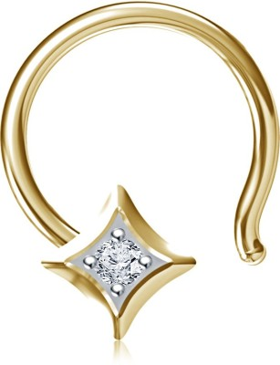 Vorra Fashion Cubic Zirconia 14K Yellow Gold Plated Sterling Silver Nose Stud