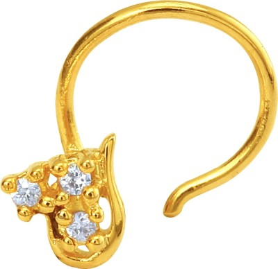 Mahi Le Beau 24K Yellow Gold Plated Alloy Nose Ring