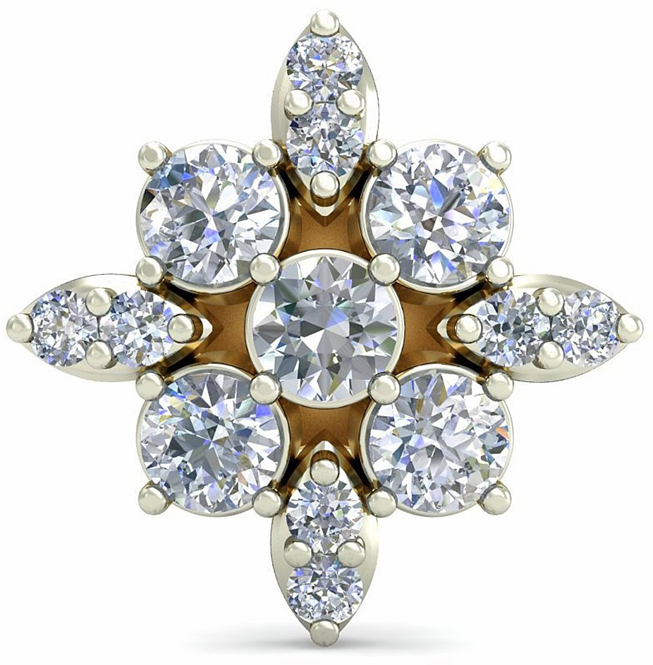 016269b43c419 WearYourShine by PCJ The Eshdah Diamond 18kt Diamond Yellow Gold Stud