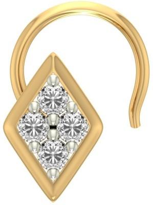 Jewels5 Belinda 18kt Diamond Yellow Gold Stud