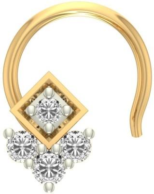 Jewels5 Bonie 18kt Diamond Yellow Gold Stud