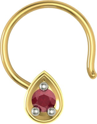 Suvam Jewels Roza Cubic Zirconia Yellow Gold Plated Silver Nose Ring