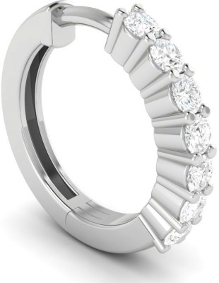 Vijisan Cubic Zirconia 18K White Gold Plated Sterling Silver Nose Ring