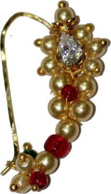 Smj Traditional 18K Yellow Gold Plated Gold Nose Ring