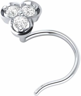 Demira Jewels Natural Engagement Flower Nose Body Piercing Ring Stud Pin 14kt Diamond White Gold Ring