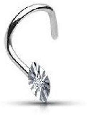 Vorra Fashion Cubic Zirconia Platinum Plated Sterling Silver Nose Stud