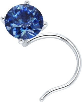 Demira Jewels Solitaire 14kt Sapphire White Gold Ring