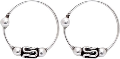 Abhooshan Silver Plated Sterling Silver Nose Ring Set(Pack of 2)