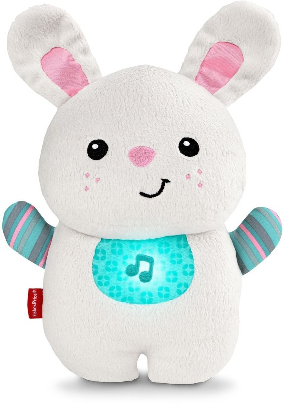 Fisher-Price Soothe and Glow Bunny Sleep Soother(White, Blue)