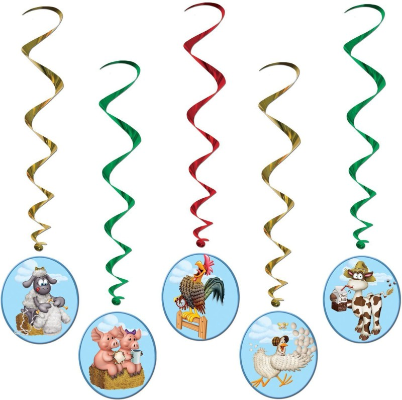 Beistle Farm Animal Whirls Whirls(Multicolor)