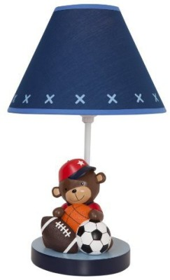 Lambs & Ivy Future All-Star Lamp with Shade and Bulb Lamp & Shades(Blue)