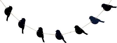 Kaasht Studio Bird Garland wall hanger(Black)