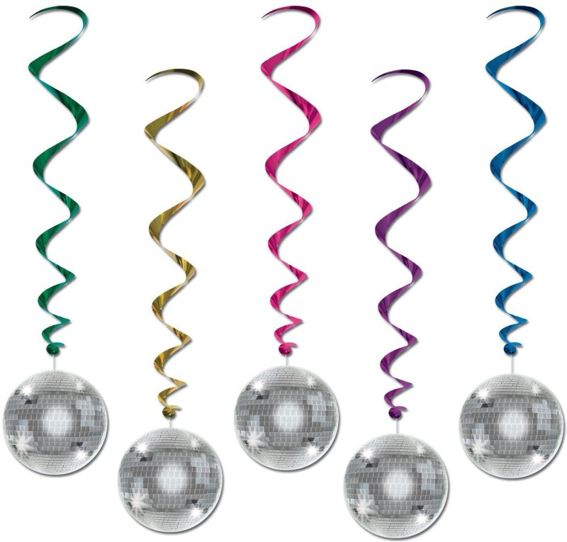 Beistle Disco Ball Whirls Whirls(Multicolor)