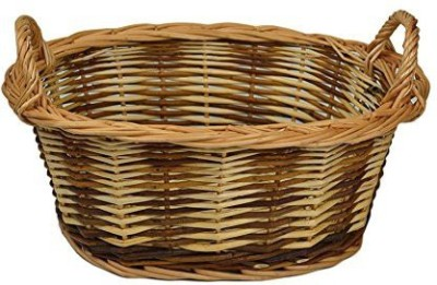 Rurality RURALITY Eco-friendly Wicker Storage Basket Planter with Handles Wind Chime(Multicolor)