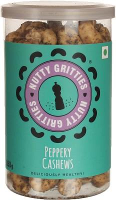 Nutty Gritties Premium Cashews(180 g, Mason Jar)
