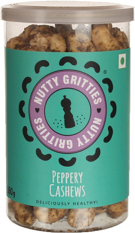 Nutty Gritties Premium Cashews(180 g, Mason Jar)
