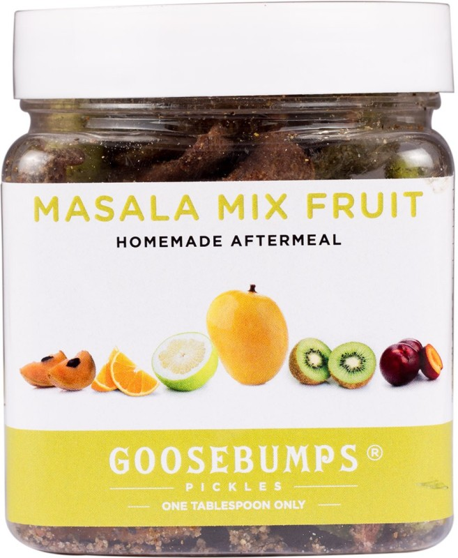 Goosebumps Pickles Homemade Assorted Masala Fruits Aftermeal Orange(250 g, Plastic Bottle)