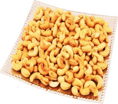 Ghasitaram Gifts Designer Square Silver Tray with Roasted Cashews