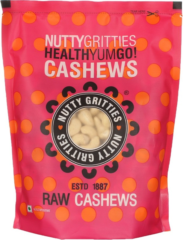 Nutty Gritties Premium Cashews(500 g, Pouch)