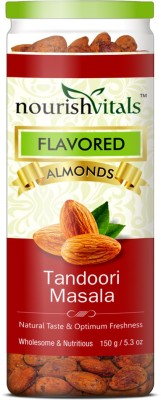 NourishVitals Roasted Tandoori Masala Flavored Almonds(150 g, Can)