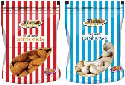 Tulsi California Almonds 200g + W-320 (Good Quality) 200g Cashews(400 g, Pouch)