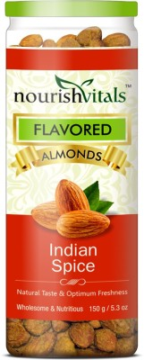 NourishVitals Roasted Indian Spice Flavored Almonds(150 g, Can)