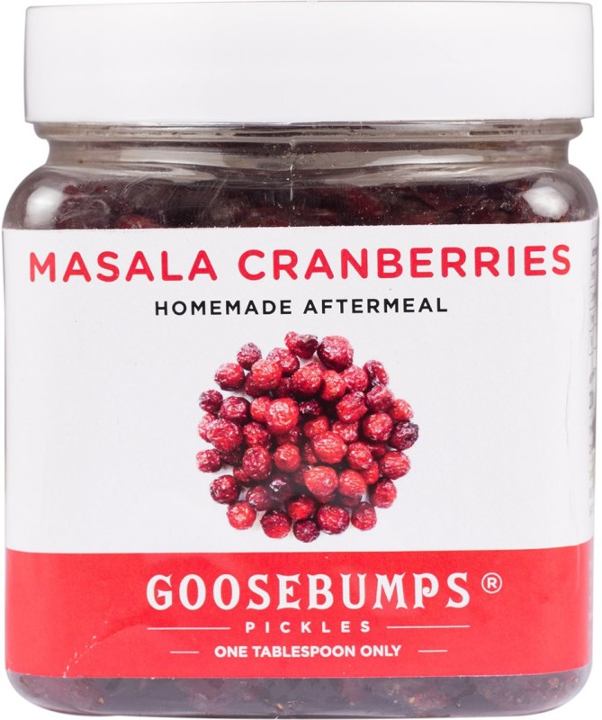 Goosebumps Pickles Homemade Masala Cranberries Aftermeal Cranberries(250 g, Plastic Bottle)