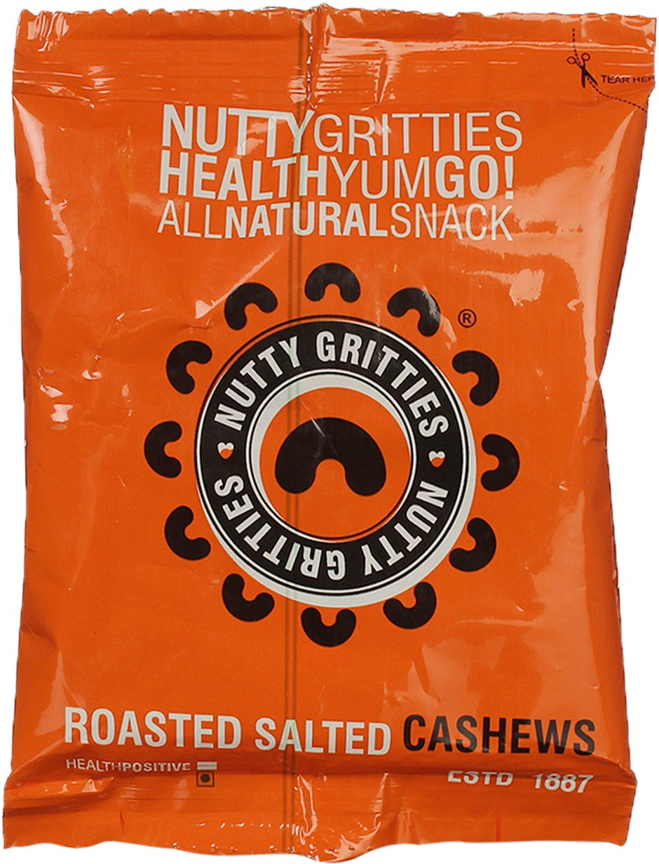 Nutty Gritties Roasted Salted Dry fruit Cashews
