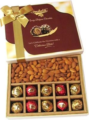 Chocholik Awesome Dry Fruit & Multi Chocolates Almonds(370 g, Box)