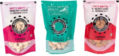 Nutty Gritties 1 Combo(100g*3) Cashews, Pistachios, Almonds(300 g, Pouch)