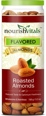 NourishVitals Roasted Almonds(150 g, Can)