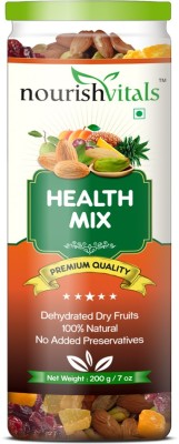 NourishVitals Health Mix (Dried Fruits & Dry Fruits) Almonds, Gooseberry, Apricots, Cranberries(200 g, Can)