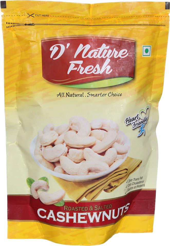 D' Nature Fresh All Natural Cashews