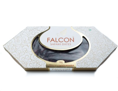 Falcon Safawi Saudi Arabian Seeded Dates(250 g, Box)
