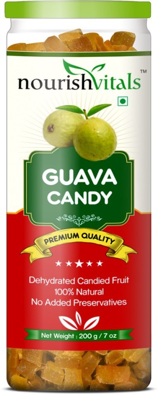 NourishVitals Guava Dried Fruit (Dehydrated Fruits) Pears(200 g, Can)