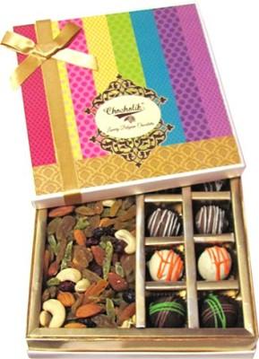 Chocholik Yummy Chocolate Box, Dryfruits Almonds(360 g, Box)