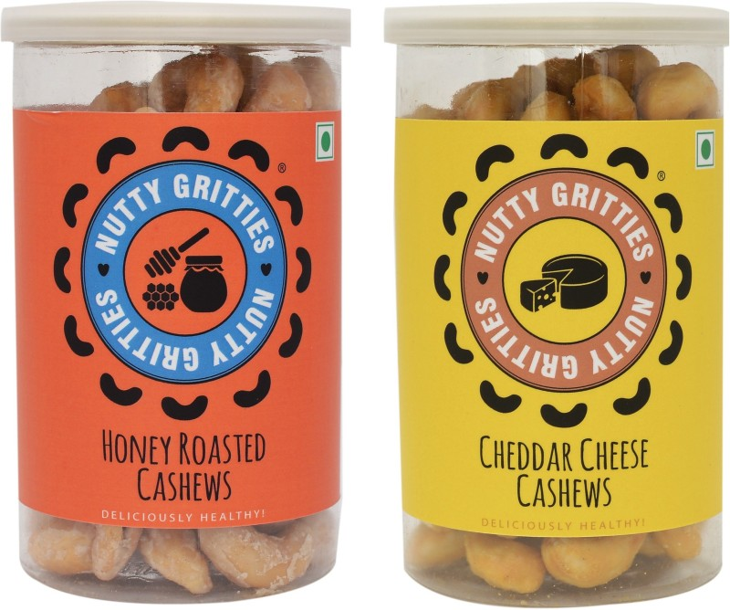 Nutty Gritties English Combo Cashews(360 g, Can)