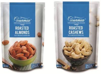 Gourmia Roasted Salt & Pepper Almond + Salt Pepper Combo Cashews(400 g, Box)