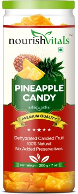 NourishVitals Dried Fruit (Dehydrated Fruits) Pineapple(200 g, Can)