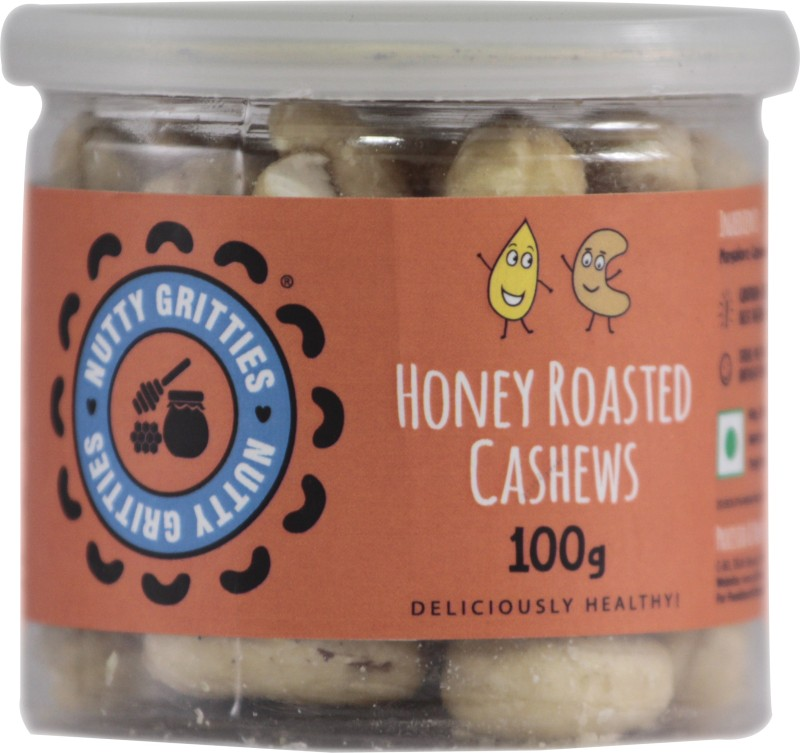 Nutty Gritties Honey Roasted Cashews(100 g, Can)