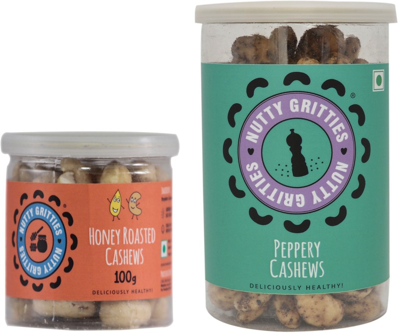 Nutty Gritties Sweet & Spicy Combo Cashews(280 g, Can)