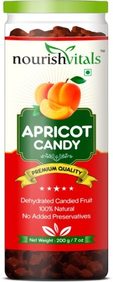 NourishVitals Apricot Dried Fruit (Dehydrated Fruits) Apricots(200 g, Can)