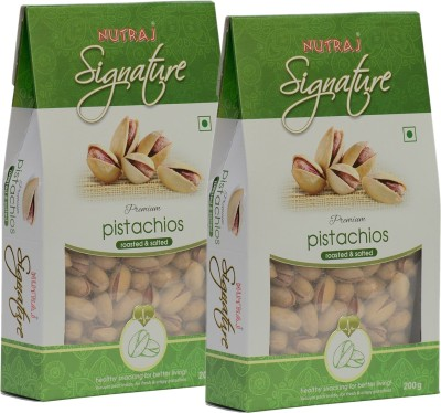 Nutraj Signature Premium Roasted and Salted Pistachios (Pack of 2)